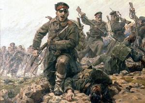 Detail obrazu Útok na bodáky Jaroslava Věšína