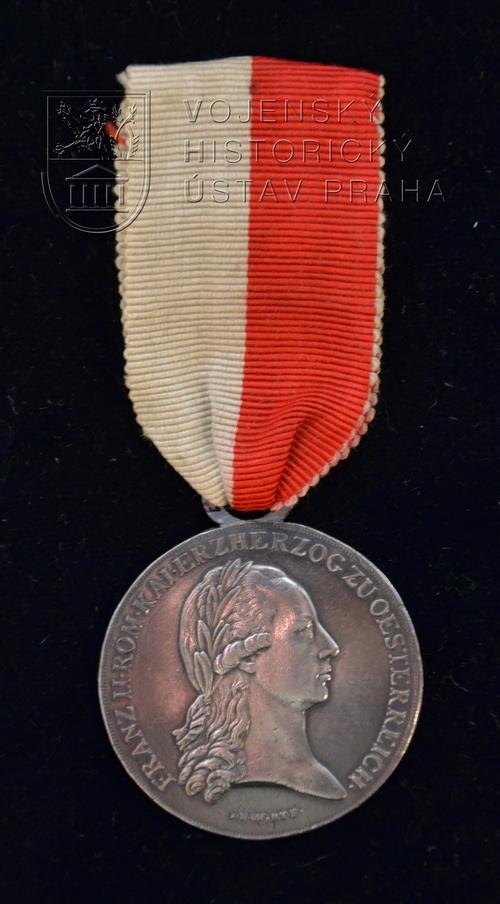Vojenská záslužná medaile dolnorakouské mobilizační výzvy roku 1797 pro poddůstojníky