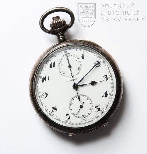 Kapesní hodinky Doxa z pozůstalosti Františka Nováka