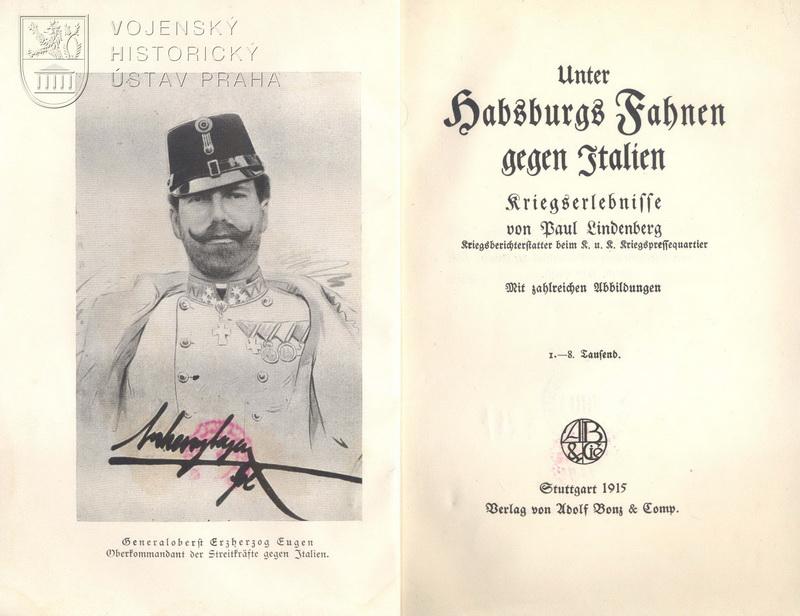 LINDENBERG, Paul. Unter Habsburgs Fahnen gegen Italien.