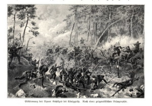 Boj ve svíbském lese.