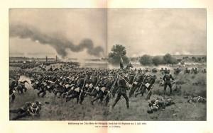 Prusové útočí na Horní Přím.