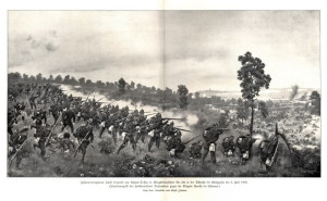 Příchod pruské 2. armády korunního prince, v jejímž čele kráčel VI. sbor veterána napoleonských válek generála jezdectva von Mutia.