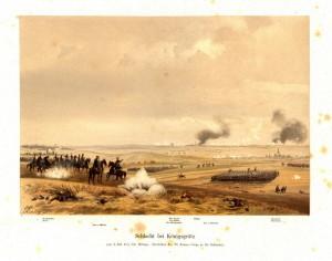 Pruský VI. sbor generála Mutia od 2. armády korunního prince nastupuje do útoku proti rakouskému pravému křídlu.