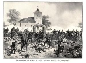 Prusové dobývají Chlum.