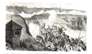 Protiútok rakouských záloh, I. a VI. sboru, z Rozběřic na Chlum úvozem mrtvých skončil utopený v krvi.