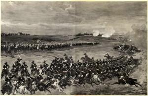 Útok rakouského hulánského pluku č. 11 od 3. záložní jezdecké divize u Střezetic.