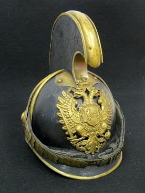 Rakouská přilba pro dragouny a kyrysníky