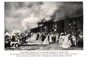 Množství rakouských zajatců bylo převezeno do Pruska, v tomto případě do slezské Vratislavi.