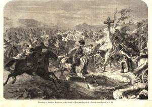 Napadení štábu polního zbrojmistra Benedeka pruským 2. husarským zeměbraneckým plukem mezi Tovačovem a Dubem nad Moravou 15. července 1866.