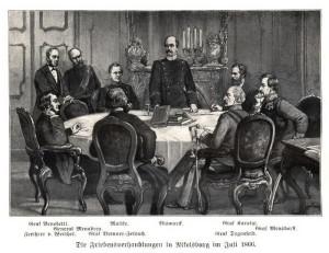 Mírové rozhovory v červenci 1866 na Mikulovském zámku.