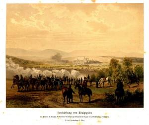 Ostřelování pevnosti Hradec Králové byl jedním z mála skutečných bojových kontaktů Prusů se samotnými pevnostmi.