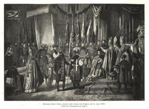 Korunovace Františka Josefa I. uherskou svatoštěpánskou korunou 8. července 1867 se stala důležitým symbolem rakousko-uherského vyrovnání. Oproti tomu plánované korunovace svatováclavskou korunou se Češi nikdy nedočkali.