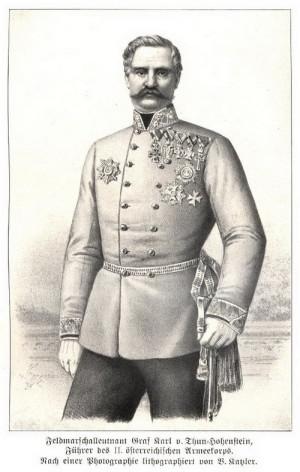 Polní podmaršál Karl hrabě Thun-Hohenstein.
