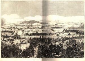 Pruská 1. armáda útočí směrem na Chlum.