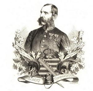 Saský korunní princ Albert.