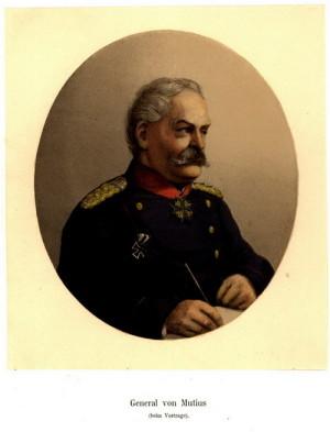 Pruský generál pěchoty Louis Wilhelm von Mutius, veterán napoleonských válek, se svým velením zasloužil o pruské vítězství u Hradce Králové. Dlouho se z něj ale netěšil, neboť již 6. srpna 1866 zemřel ve Slavkově u Brna na choleru.