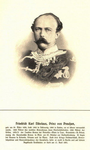Princ Friedrich Karl Pruský.