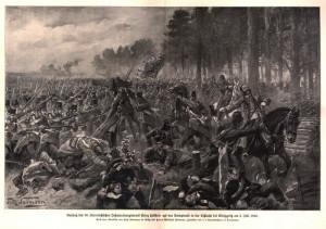 Na většině ilustrací je boj o svíbský les zobrazován v idealizované podobě. Roku 1866 byl ale Svíb z valné části tvořen mladými stromky vytvářejícími nepřehledná křoviska, což se ale k uměleckému ztvárnění příliš nehodilo.