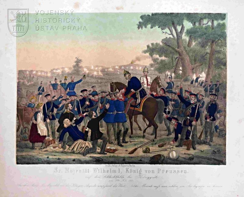 Vilém I. po bitvě u Hradce Králové 3. července 1866