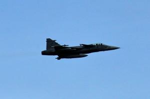 Průlet letounů JAS-39 Gripen z čáslavské základny
