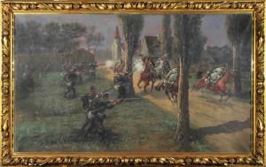 Jedním z prvních mrtvých rakouské armády se stal četař Emmerich Berta od husarského pluku č. 10, který padl 23. června v šarvátce u Stráže nad Nisou