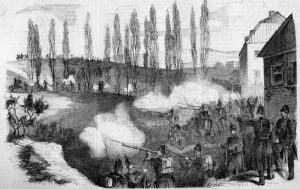 Přestřelka, která se strhla mezi rakouskými a pruskými vojáky u obce Bronnzell - dnes součást města Fulda - hrozila přerůst v ozbrojený konflikt mezi oběma největšími státy Německého spolku