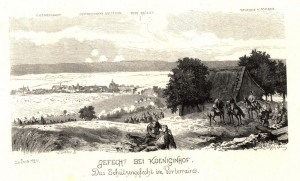 Boj pruského předvoje na přístupech ke Dvoru Králové 29. června