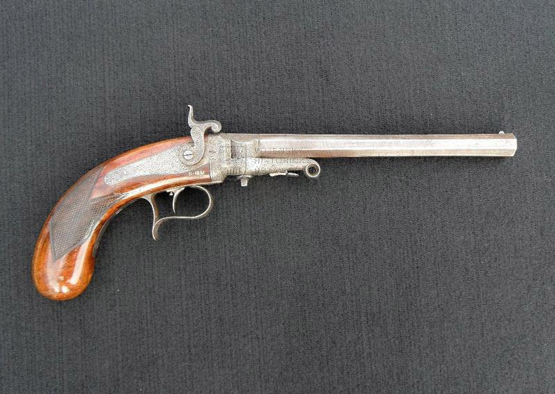 Pistole s perkusním zámkem systému Beringer, A. Čížek, Teplice, kolem 1850