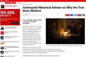 O filmu Anthropoid píší americká média, časopis TIME cituje historika z VHÚ
