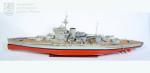 Model britské bitevní lodi H. M. S. Warspite