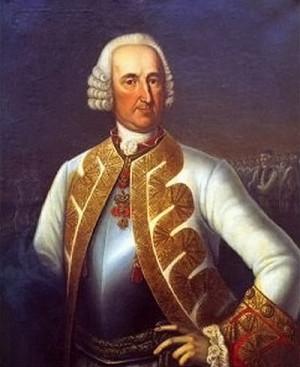 Rakouský polní maršál Maximilian Ulysses hrabě Browne.