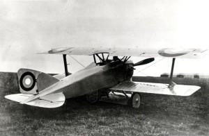 ediný prototyp československého stíhacího letounu Aero Ae-02, rok 1920