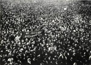 Generální stávka na Kladně 14. října 1918
