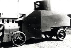 Obrněný automobil Praga R rakousko-uherské výroby určený k exportu do Osmanské říše.