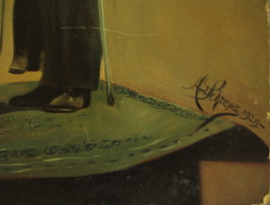 Signatura malíře Antona Schreyera.