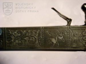 Lovecký tesák kombinovaný s pistolí s křesadlovým zámkem, střední Evropa, kolem 1740