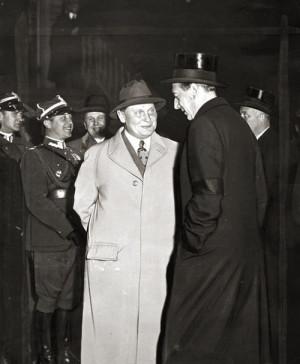 Józef Beck při setkání s Hermannem Göringem v roce 1937