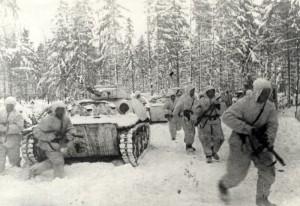 Útok sovětské pěchoty, zima 1941-2