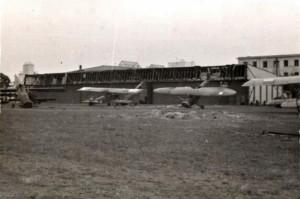 Letiště Deblin po příchodu Němců, kteří sem dorazili 16. 9. 1939