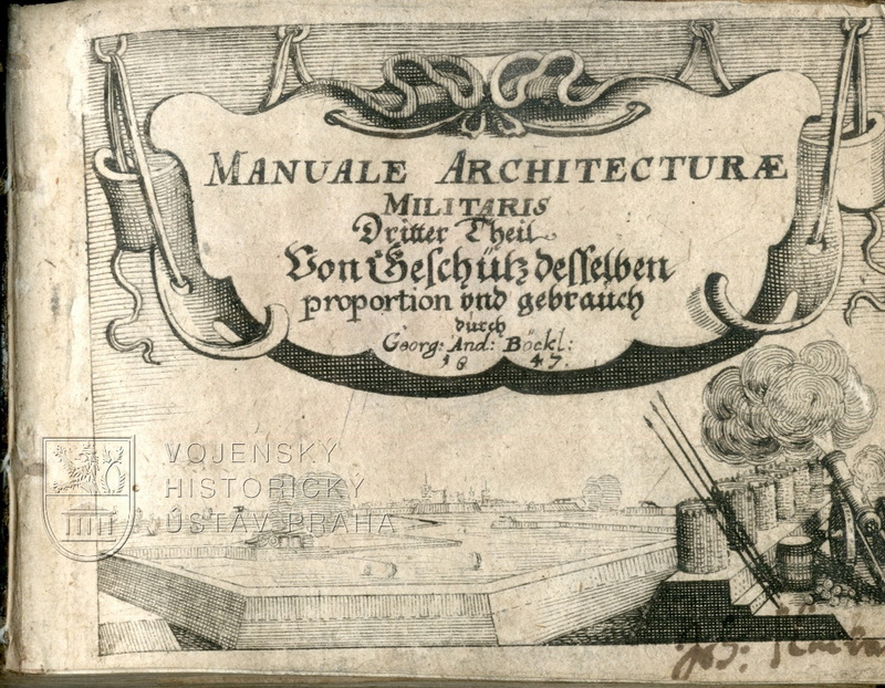 BÖCKLER, Georg Andreas. Manuale Architecturae militaris. Dritter Theil.