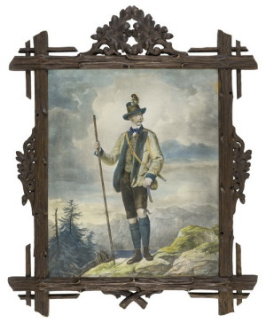 Při horských túrách nosíval císař hnědý vlněný kabát a tříčtvrteční kožené kalhoty.