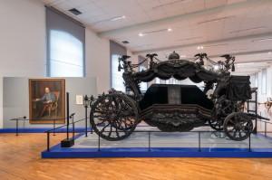 Schönbrunn - Muzeum kočárů. Pohřební vůz císařovny Alžběty z roku 1898.