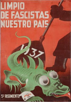 Očistím naši zemi od fašistů, 1936–1937, 1937, 5. pluk. Tisk, litografie.