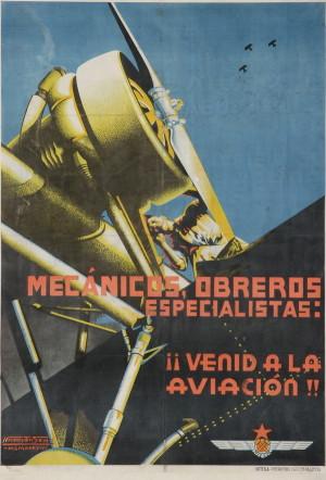 Technici, dělníci specialisté. Připojte se k letectvu!, 1937. Tisk, litografie.