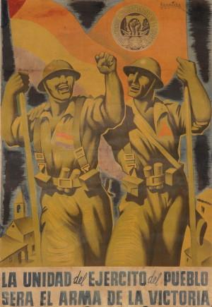 Jednota vojska lidu bude zbraní vítězství, 1937. Tisk, litografie.