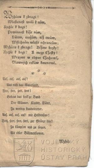 1. strana písně.