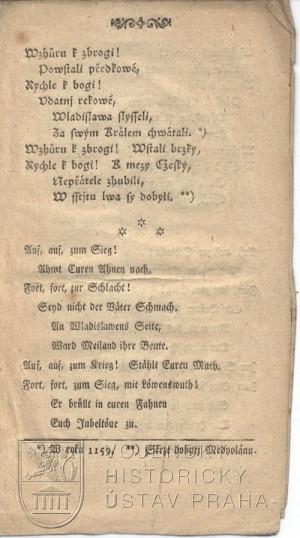 3. strana písně.