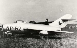 Páteří vojenského letectva v polovině padesátých let byly letouny MiG-15.
