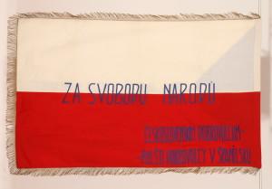 Prapor Polských dobrovolníků čs. interbrigadistům